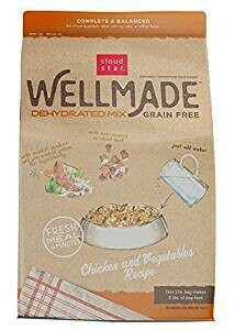 Cloud Star Wellmade Raw Dehydrated Dog Food Chicken & Vegetable 3 lbs MAKES 8 lbs (02/19) (A.N7)