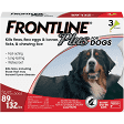 FRONTLINE PLUS 89 TO 132 DOGS 3 COUNT (O.F1)