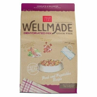 Cloud Star Wellmade Dehydrated Grain Free Mix Pork & Vege 3 Lb (02/19) (A.P8/DD)