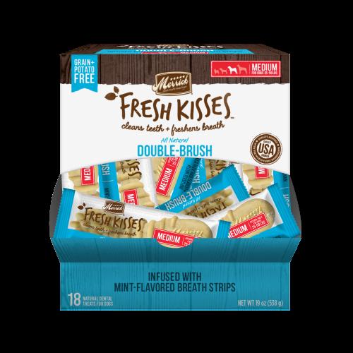 **BOGO** Merrick Fresh Kisses Mint Strips Medium Dental Dog Treats 18 count #66038 (03/19) (A.K4)