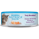 Nutrisca Grain Free Truly Shredded Chicken & Shrimp Entree in Savory Broth Can Cat Food 2.7 oz 24 count (01/19) (A.Q2)