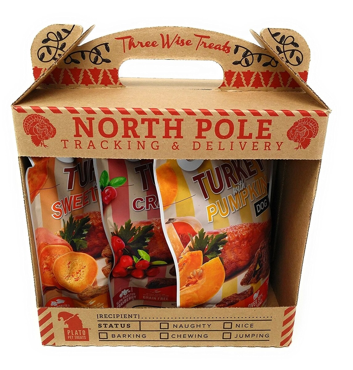 PLATO NORTH POLE TRACKING & DELIVERY 3 Treat Pack (03/19) (A.H2/DT)