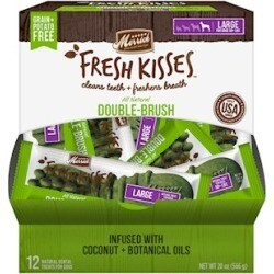 Merrick Fresh Kisses Grain Free Coconut Oil & Botanicals Large Dog Treat Box 20 oz 12 count (04/19) (A.H4/DT)