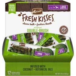 **BOGO** Merrick Fresh Kisses Grain Free Coconut Oil & Botanicals Large Dog Treat Box 20 oz 12 count (04/19) (A.P3)