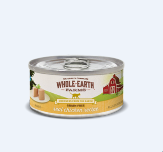Whole Earth Farms Grain Free Real Chicken Can Cat Food 5 oz 24 count (8/19) (A.L5)