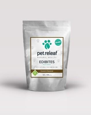 Pet Releaf ECC100 Carob Coconut CBD Hemp Oil Edibites for Dogs 6.5 oz (O.O2/PR)