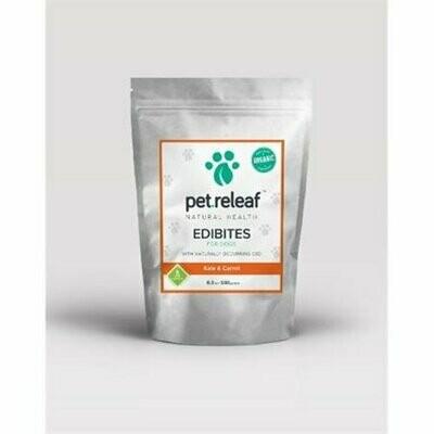 Pet Releaf Kale & Carrot CBD Hemp Oil Edibites for Dogs 6.5 oz  (T.F8/DT)