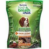 TropiClean Fresh Breath Plus Skin & Coat Dental Dog Chews 20 count Small Dogs (11/18) (T.E8/DT)