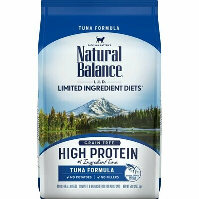 Natural Balance L.I.D. High Protein Tuna Formula Adult Dry Cat Food, 5 lbs. (10/19) (A.K1)