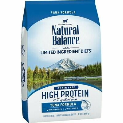 Natural Balance L.I.D. High Protein Tuna Formula Adult Dry Cat Food, 11 lbs. (8/19) (A.I4)