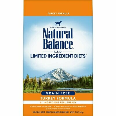 Natural Balance Pet Foods Turkey High Protein Dry Dog Food - 12 lbs (9/19) (A.R5)