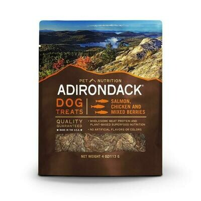 **BOGO** Adirondack dog treats salmon chicken and mixed berries made in the USA adult dog treats 4 ounces (4/19)