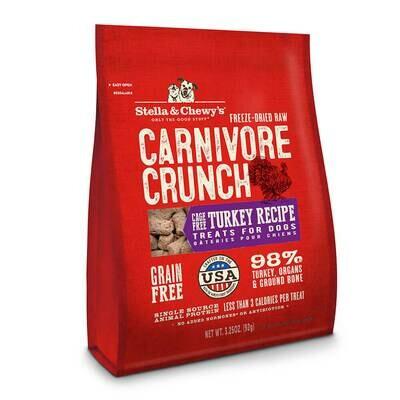 Stella & Chewy's Carnivore Crunch Turkey, Dog Treats 3.25oz (11/18)  (T.C3)