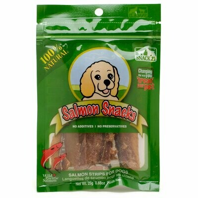 **BOGO** WILD PACIFIC Snack 21 Natural Salmon Snacks for Dogs (0.88 oz.) (N/D) (T.G1)