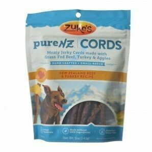 Zuke PURE-NZ  turkey cords made with grass-fed beef from New Zealand beef and turkey recipe 5 ounces (12/18) (T.B4)
