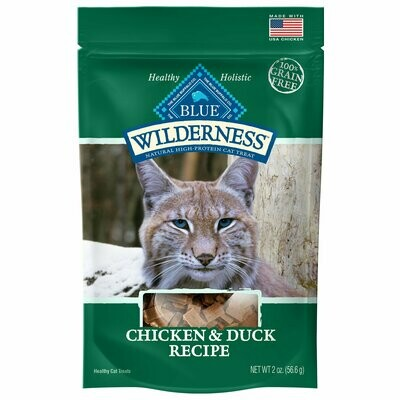 Blue Buffalo Wilderness Chicken & Duck Grain Free Cat Treats, 2 oz (1/20) (T.A1)