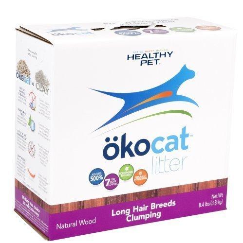 **SALE** Okocat Natural Wood Cat Litter, Long Hair Breeds, 8.4 lbs **SALE** (A.M6)