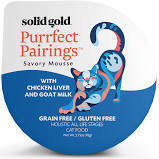 Solid Gold Purrfect Pairings Savory Mousse with Chicken & Goat Milk Grain-Free Cat Food Cups, 6/2.75-oz. (8/18) (A.K3)
