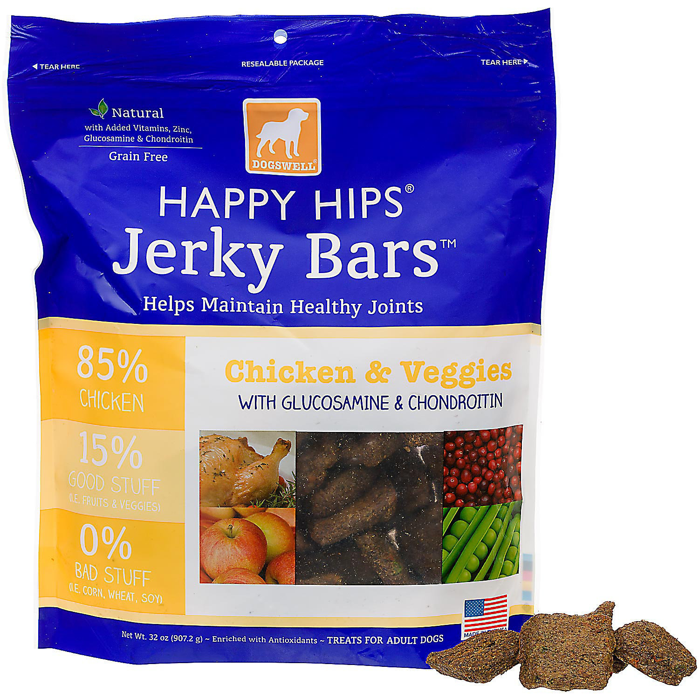 Dogswell Happy Hips Chicken & Veggies Jerky Bars Dog Treat (2 lbs.) (3/18) (T.E10)
