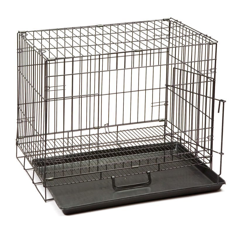 "Dogit Wire Crate with Wire Grating Floor, 24"" x 17"" x 21"", Black **May Be Open Box** (A.Q1)"
