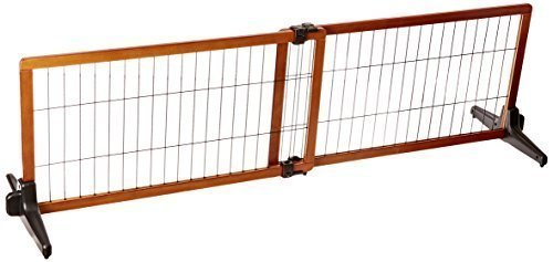 Carlson 68-Inch Wide Adjustable Freestanding Pet Gate, Premium Wood **ONLY 4 LEFT** (A.Q2)
