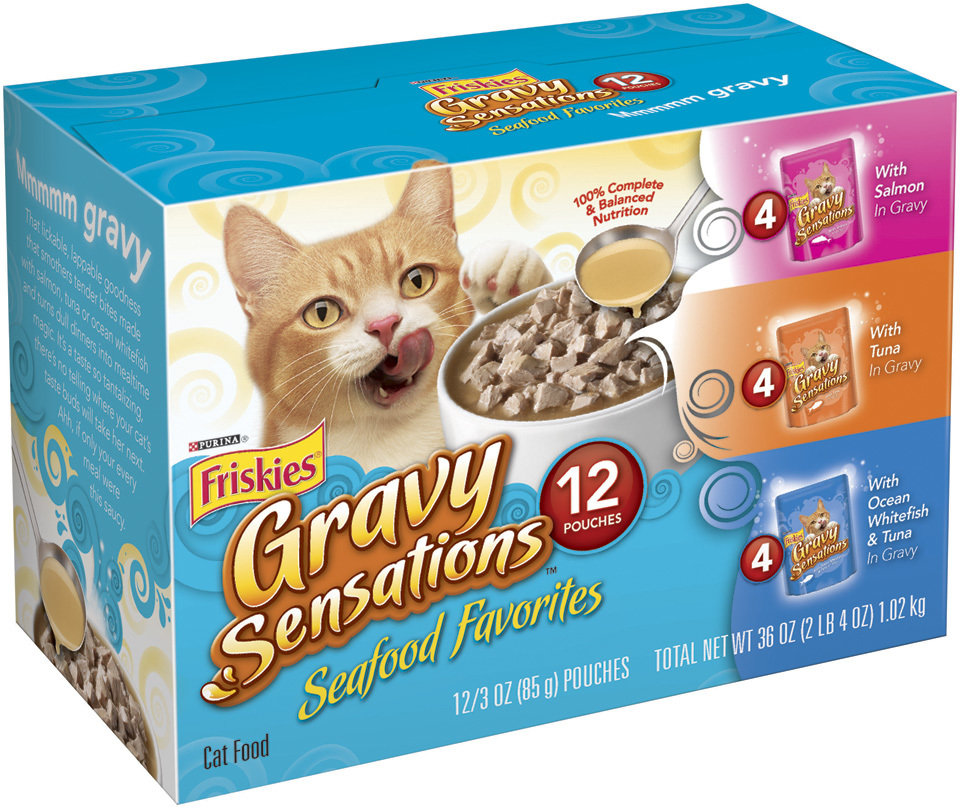 Friskies Pouch Seafood Variety Pack (3 oz. 12 count) (3/18) (A.K5)