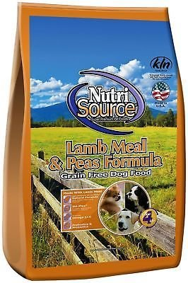 Nutri Source Grain Free Dog, LAMB 5LB  (6/18)  (A.I3)