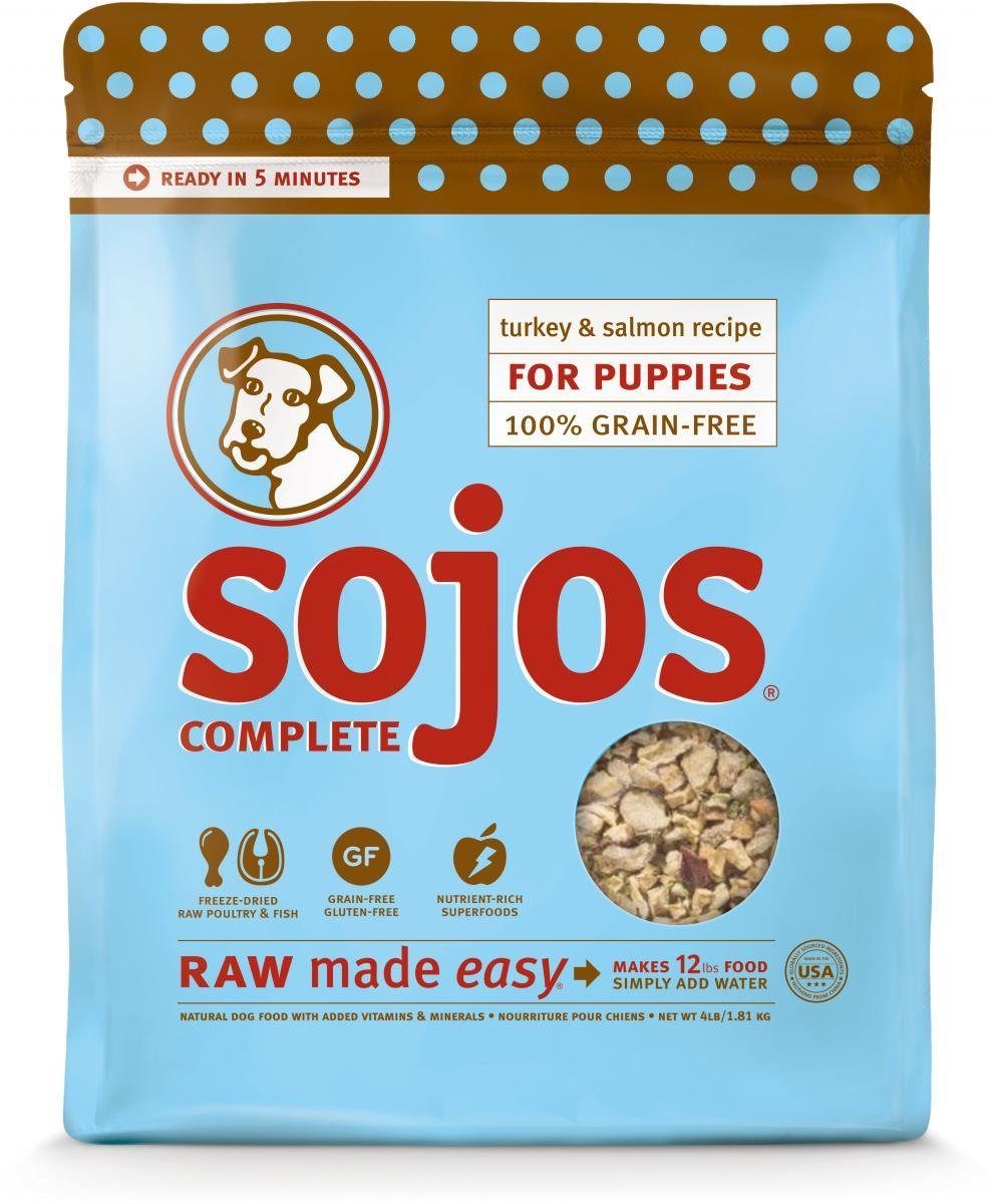 Sojos Dog Turkey & Salmon Recipe Puppy Food 4 lbs. (8/18) (A.M5)