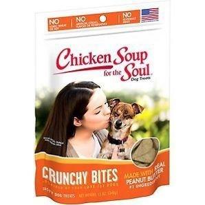 Chicken Soup For The Soul Crunchy Bites Peanut Butter Dog Treats, 12 Oz (4/18)  (T.C9)