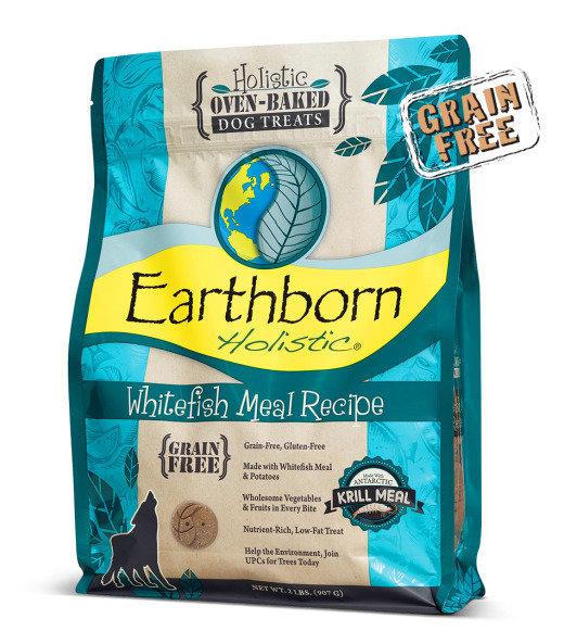 Earthborn Holistic Grain-Free Whitefish Meal Recipe Dry Dog Treat, 14 oz (8/18)  (T.C9)