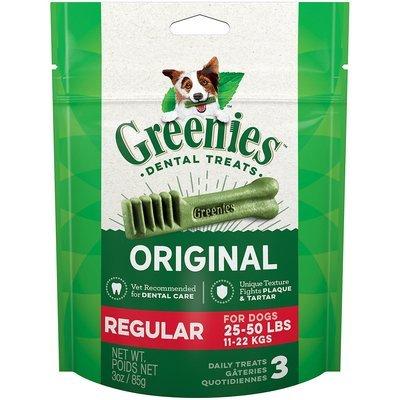 Greenies Regular Dental Dog Treats, 3 oz. (6/19)  (T.A2/DT)