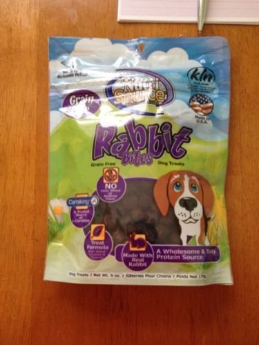 **SALE** NutriSource Grain-Free Rabbit Bites Dry Dog Treat  6 oz (8/18) (T.F5/DDS)