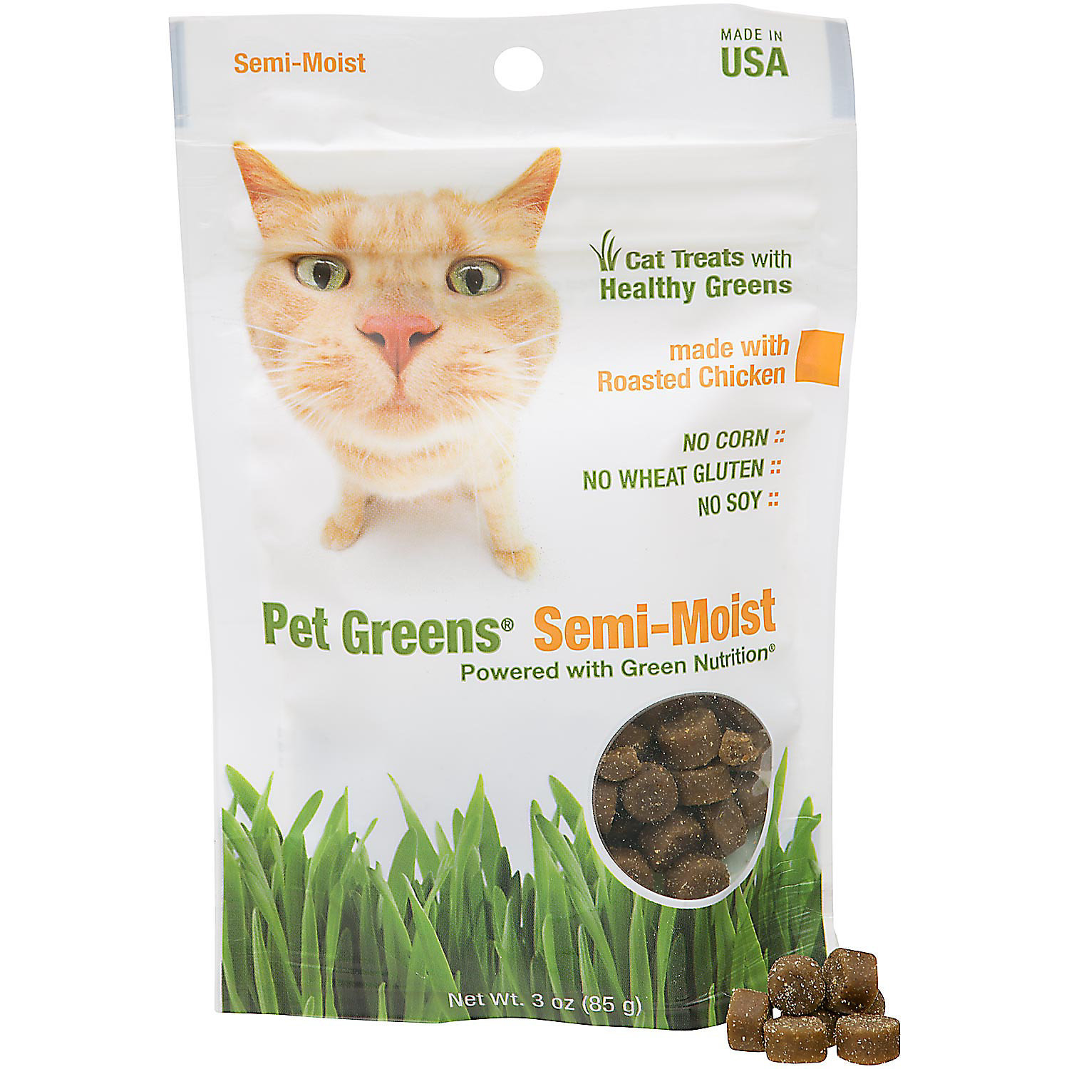 **SALE** Pet Greens Roasted Chicken Semi Moist Cat Treats, 3 oz. (1/18)  (T.D2) **SALE**