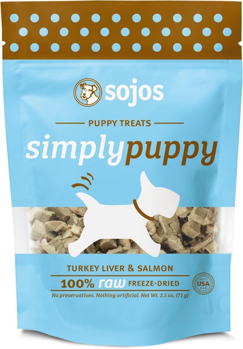 Sojos Dog Puppy Turkey Salmon Treat 2.5 oz  (12/18) (T.B4)