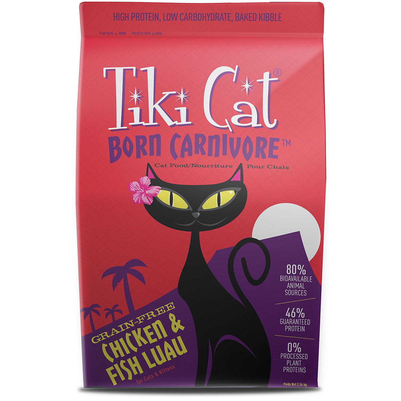 Tiki Cat Born Carnivore Chicken & Fish Luau Dry Cat Food, 2.8 lbs (9/18)  (A.M7)