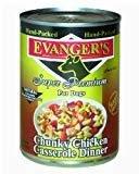 Evanger's Evanger's Chunk Chicken Casserole Dog 13.2Oz 12 COUNT (10/20  (A.L4)