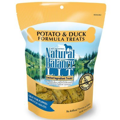 Natural Balance Pet Food L.I.T. Treats for Dogs Potato and Duck 14 oz (5/18) (T.A4)