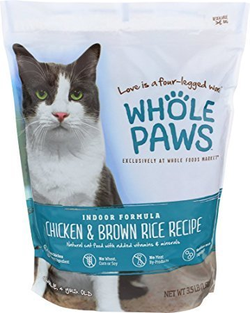 Whole Paws Indoor Cat Formula in Chicken & Brown Rice Recipe 3.5 lbs.  (2/19)  (A.F1/B)