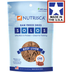 **SALE** Nutrisca Solos Beef Liver Freeze-Dried Dog Treats, 1.5-oz bag (2/18) (T.D3/DT)