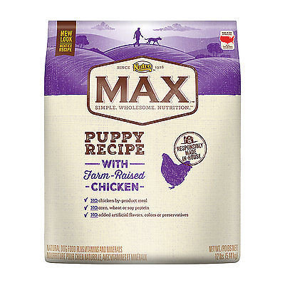 Nutro Max Puppy Recipe With Farm Raised Chicken Dry Dog Food 12 Pounds (A.C3)
