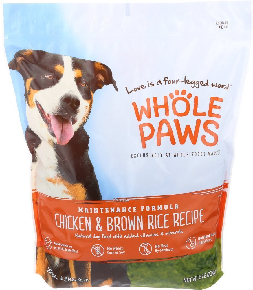 Whole Paws Maintenance Dog Formula in Chicken & Brown Rice Recipe 6 lbs. (2/19) (A.F2) **Bulk Discounts Available**