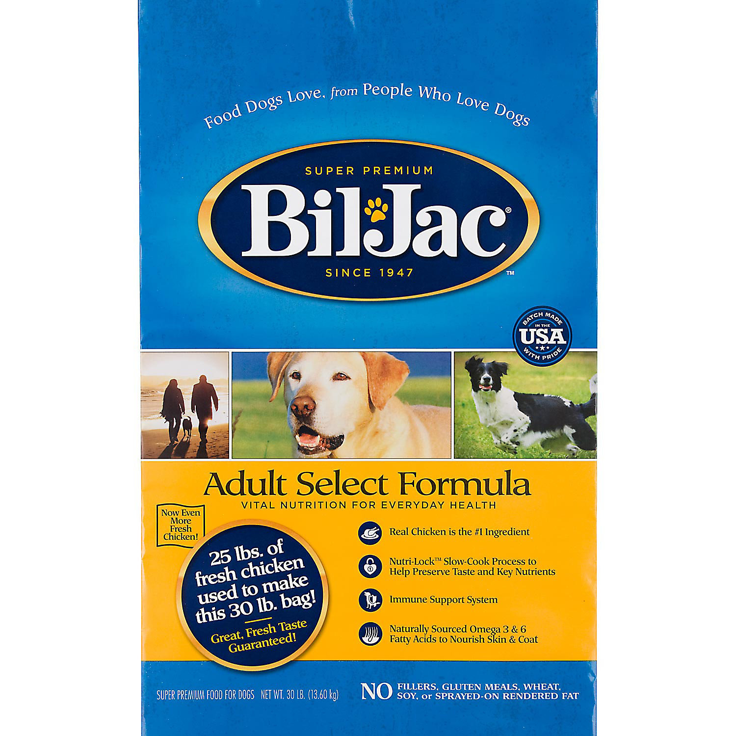 Bil-Jac Adult Select Dry Dog Food, Chicken 6 lbs. (9/18) (A.M2)