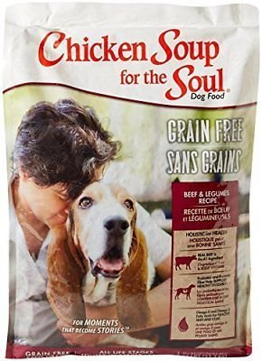 Chicken Soup for the Soul Chicken Soup Grain Free Beef & Vegetarain, 25 lbs. (12/18) (A.F4)