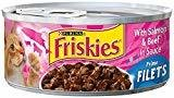 Friskies Prime Filet Salmon/Beef 5 oz 24 count (12/18) (A.O5)