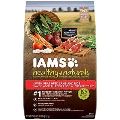 Iams Healthy Naturals Adult With Lamb And Rice Recipe Dry Dog Food 25.6 Pounds (12/18) (A.P3)