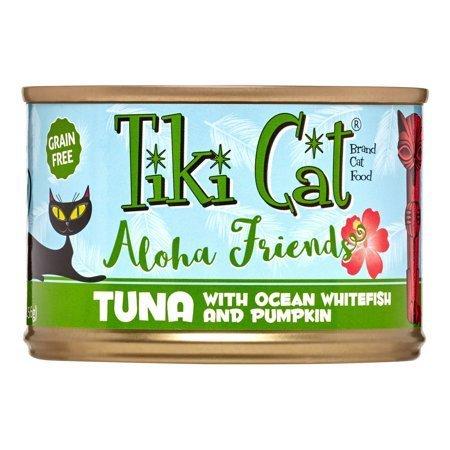 Tiki Cat Aloha Friends Grain-Free Tuna with Ocean Whitefish & Pumpkin Wet Cat 5 oz 8 count (10/18) (A.K5)