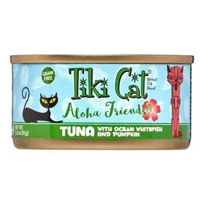 Tiki Cat Aloha Friends Grain-Free Tuna with Ocean Whitefish & Pumpkin Wet Cat 3 oz 12 count (10/18) (A.K5)