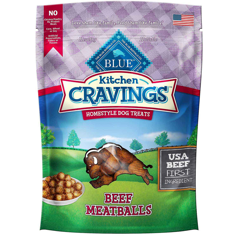 **SALE** Blue Buffalo Kitchen Cravings Beef Meatballs Dog Treats, 6 oz. (10/18) (T.A9/DT)