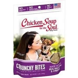 Chicken Soup For The Soul Crunchy Bites Bacon/cheese Dog Treats, 12 Oz (6/19) (T.C9)