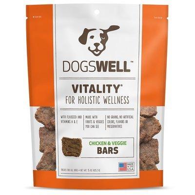 **SALE** Dogswell Vitality Jerky Bars Chicken & Veggies Dog Treats, 15 oz. (1/18) (T.D3/DT)